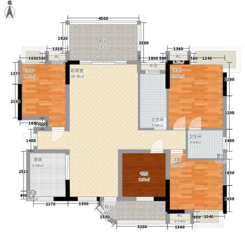 春江花月4室0厅2卫1厨143.00㎡户型图