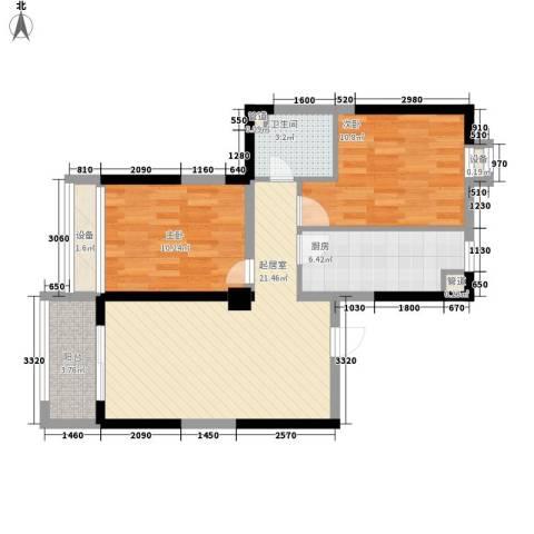 瑞和山水居2室0厅1卫1厨85.00㎡户型图