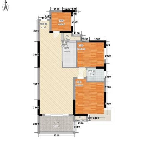 春江花月3室0厅1卫1厨115.00㎡户型图