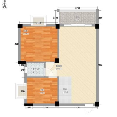 叠美居2室0厅1卫0厨56.00㎡户型图