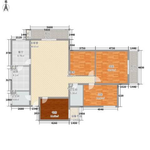 金地苑4室1厅2卫1厨213.00㎡户型图