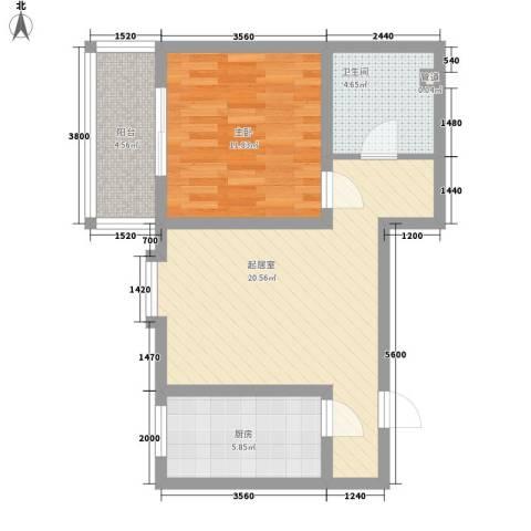观庭1室0厅1卫1厨70.00㎡户型图