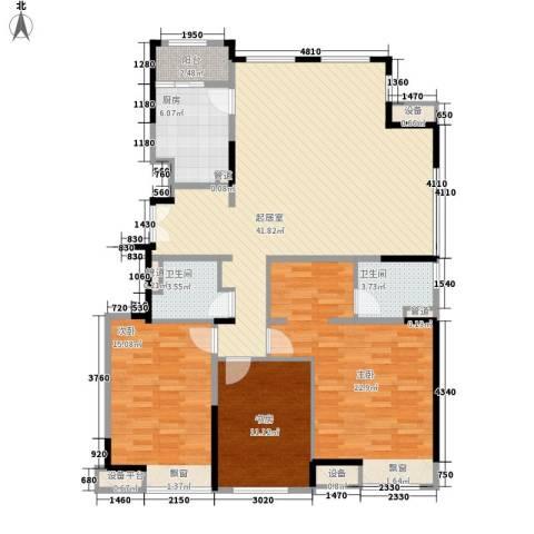 金融街南开中心3室0厅2卫1厨138.00㎡户型图