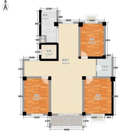 东怡水岸花园别墅3室1厅1卫1厨145.00㎡户型图