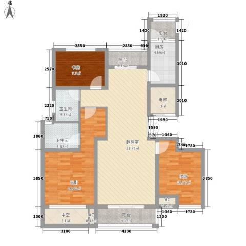 观澜盛世3室0厅2卫1厨137.00㎡户型图