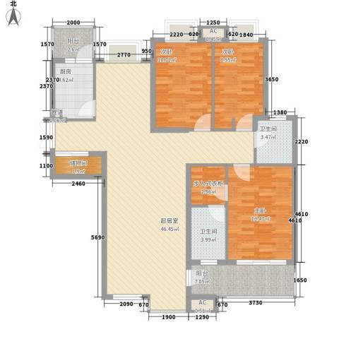 翠微品墅别墅3室0厅2卫1厨152.00㎡户型图