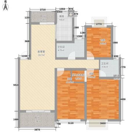 翠微品墅别墅3室0厅2卫1厨132.00㎡户型图