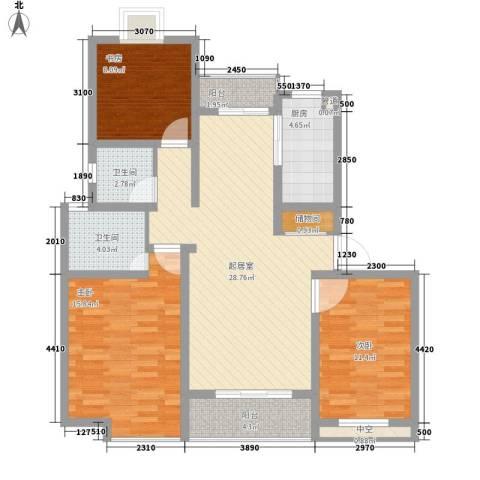 翠微品墅别墅3室0厅2卫1厨122.00㎡户型图