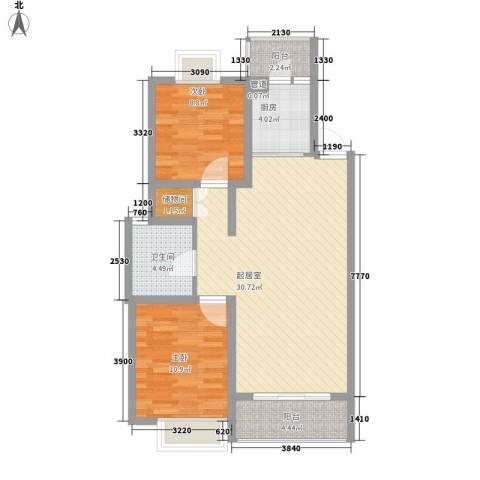 翠微品墅别墅2室0厅1卫1厨96.00㎡户型图