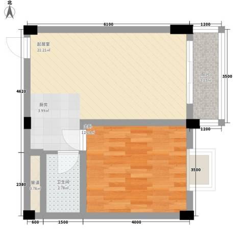 叠美居1室0厅1卫0厨45.00㎡户型图