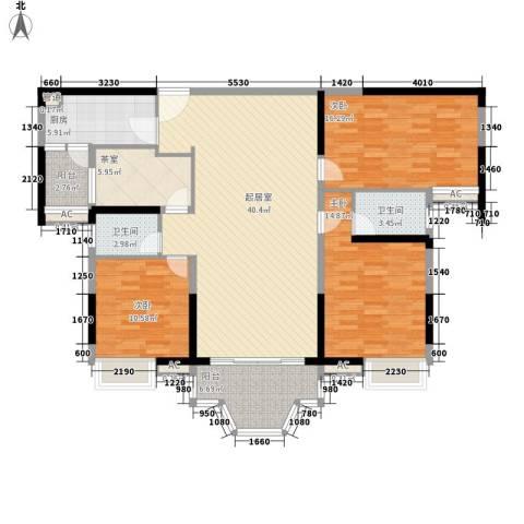 骏景花园东御苑3室0厅2卫1厨159.00㎡户型图