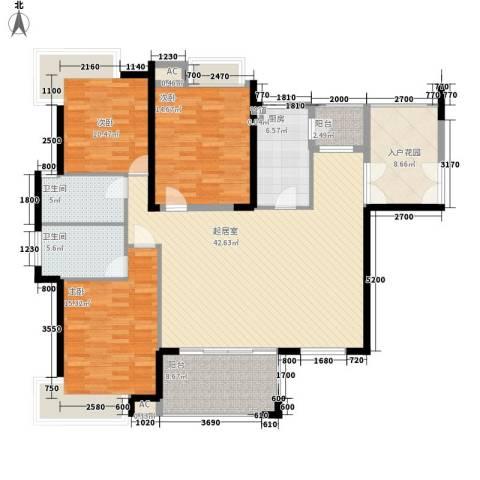 藏珑湖上国际社区别墅3室0厅2卫1厨170.00㎡户型图
