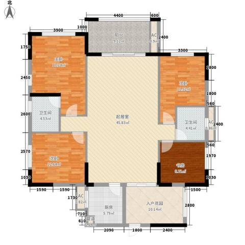 黄埔雅苑二期4室0厅2卫1厨186.00㎡户型图