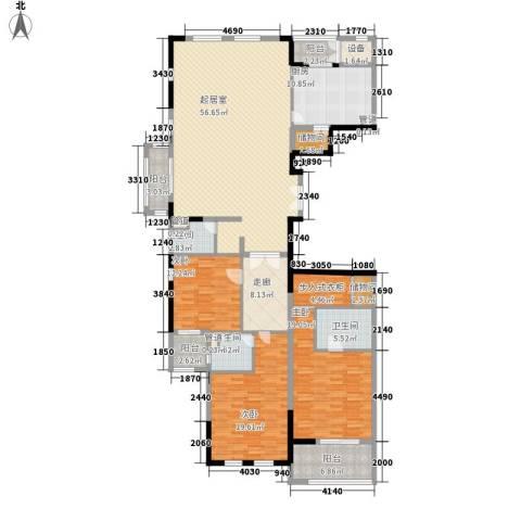 滨江19333室0厅3卫1厨230.00㎡户型图