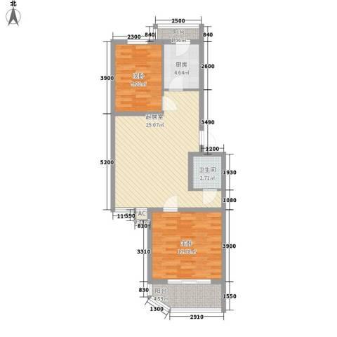 世涛天朗一期2室0厅1卫1厨83.00㎡户型图