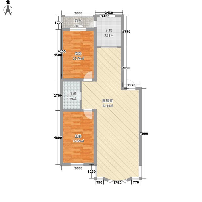 柳湖绿园100.69㎡柳湖绿园户型图2室2厅1卫户型10室