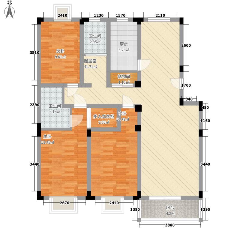 华安家园143.17㎡华安家园户型图3、4号楼C2室2厅2卫1厨户型2室2厅2卫1厨