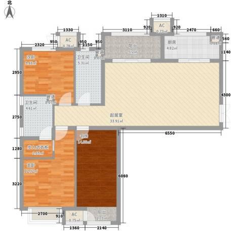 龙城帝景3室0厅2卫1厨124.00㎡户型图