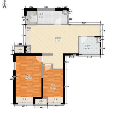 金融街南开中心2室0厅1卫1厨90.00㎡户型图