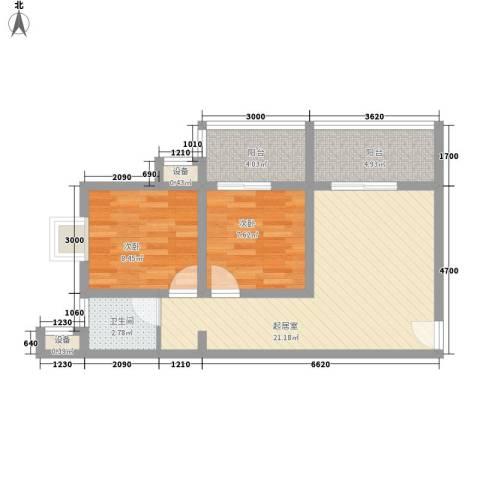 �灞雅苑2室0厅1卫0厨74.00㎡户型图
