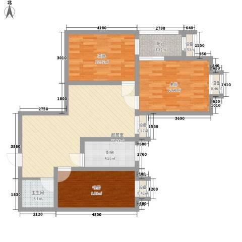 �灞雅苑3室0厅1卫1厨101.00㎡户型图