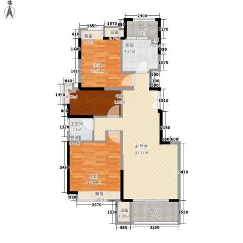金融街南开中心3室0厅1卫1厨90.00㎡户型图