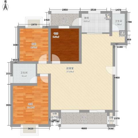 上品・长安人家3室0厅2卫1厨128.00㎡户型图