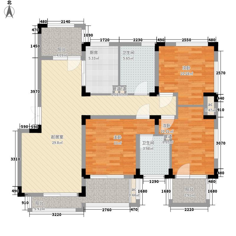 中大诺卡小镇132.00㎡中大诺卡小镇户型图2期小高层2#楼L-D2户型3室2厅2卫户型3室2厅2卫