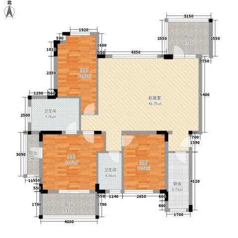 万科城市高尔夫花园别墅3室0厅2卫1厨125.00㎡户型图