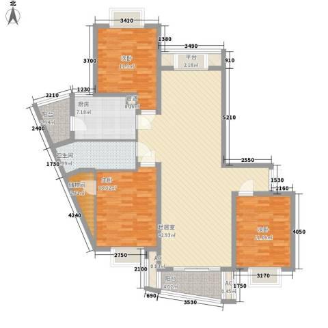 中虹明珠苑3室0厅1卫1厨154.00㎡户型图