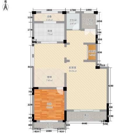塞纳蓝湾1室0厅1卫1厨188.00㎡户型图