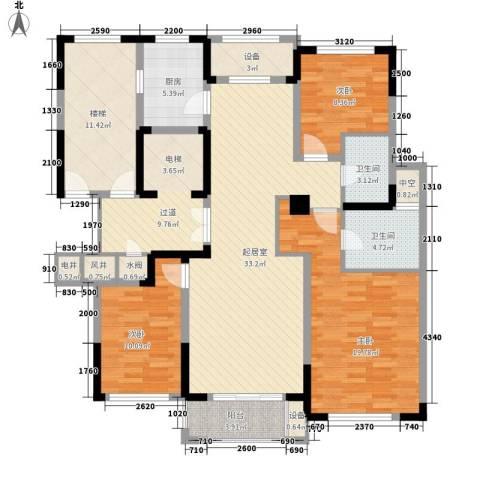 塞纳蓝湾3室0厅2卫1厨120.00㎡户型图