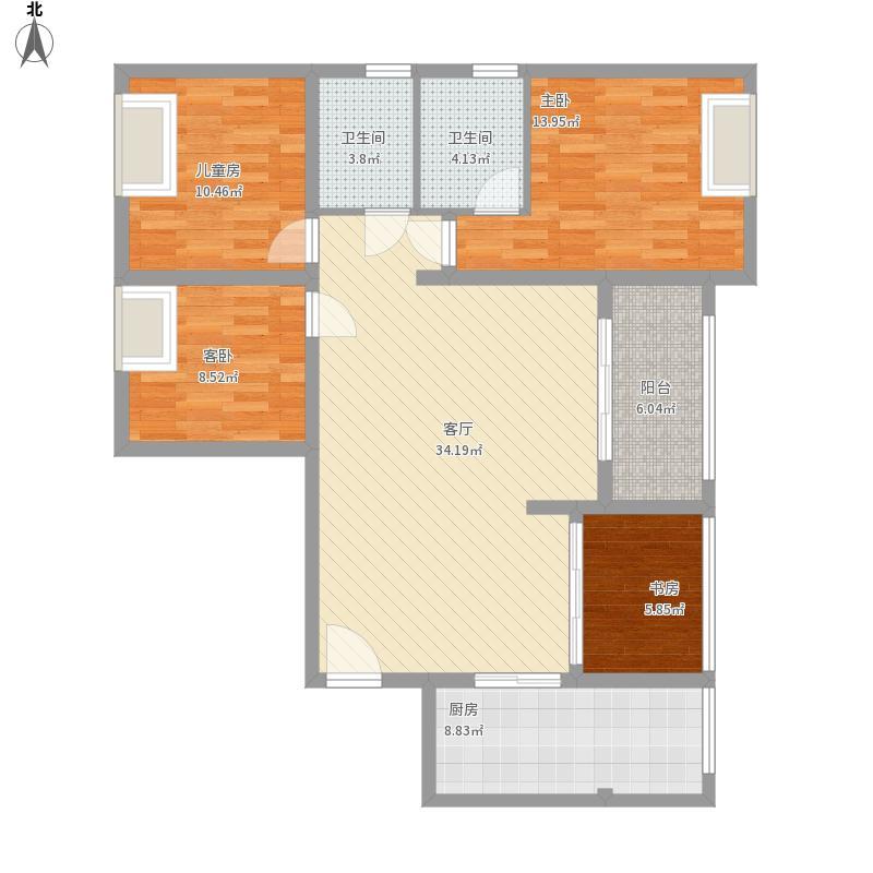 三房两厅121.12