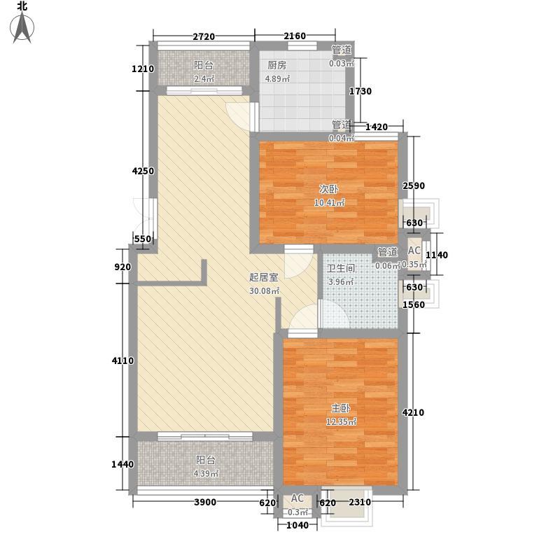 复城国际101.00㎡复城国际4#01室二房户型10室