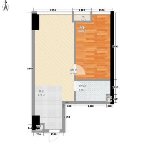 武汉城市广场1室0厅1卫0厨59.00㎡户型图