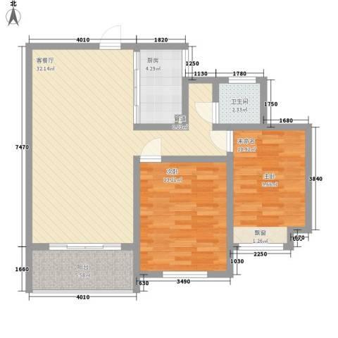 景华城1室1厅1卫1厨68.49㎡户型图
