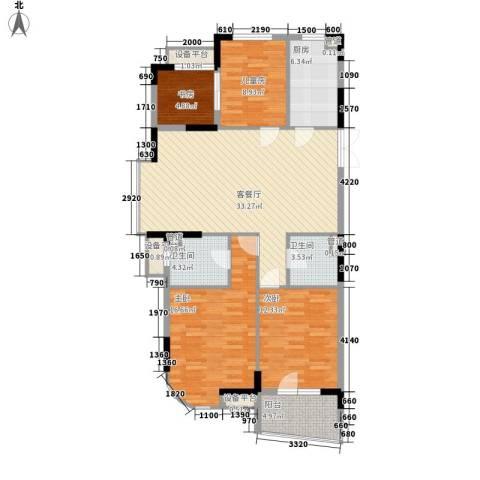 景华城4室1厅2卫1厨138.00㎡户型图