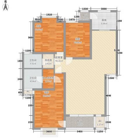 世涛天朗一期3室0厅2卫1厨135.00㎡户型图