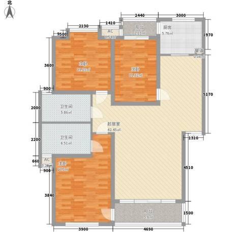世涛天朗一期3室0厅2卫1厨137.00㎡户型图
