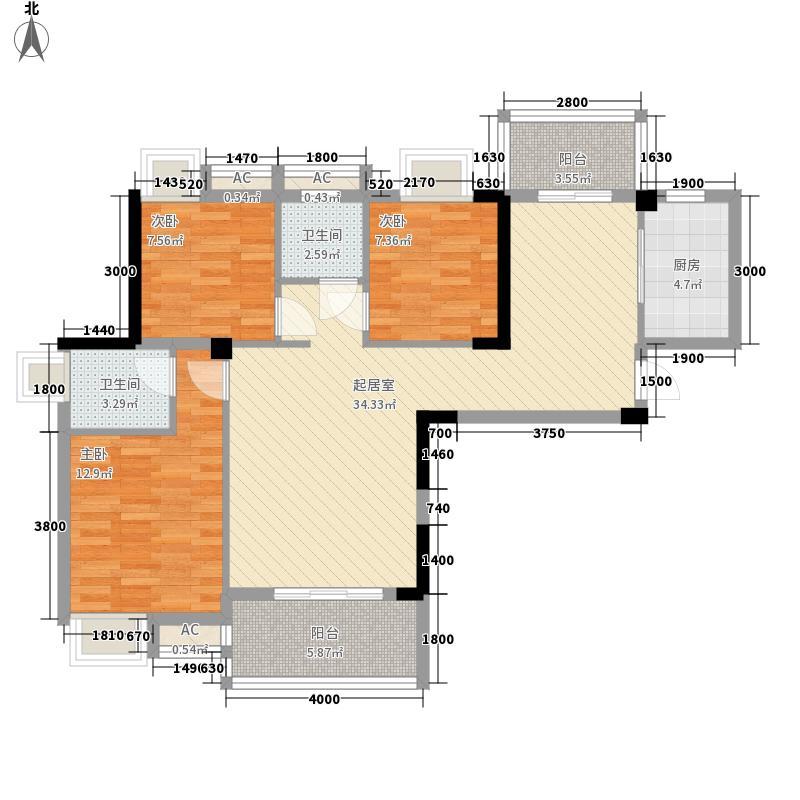 水域天际三期110.00㎡水域天际三期户型图D户型3室2厅2卫1厨户型3室2厅2卫1厨