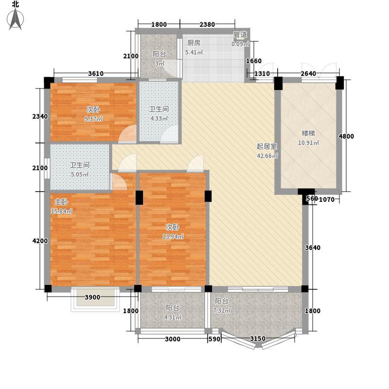 锦绣江南123.12㎡2#楼09-错层户型3室2厅2卫1厨