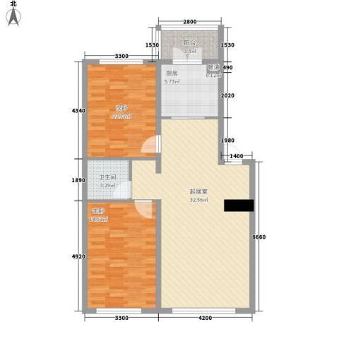 阳光绿景2室0厅1卫1厨102.00㎡户型图