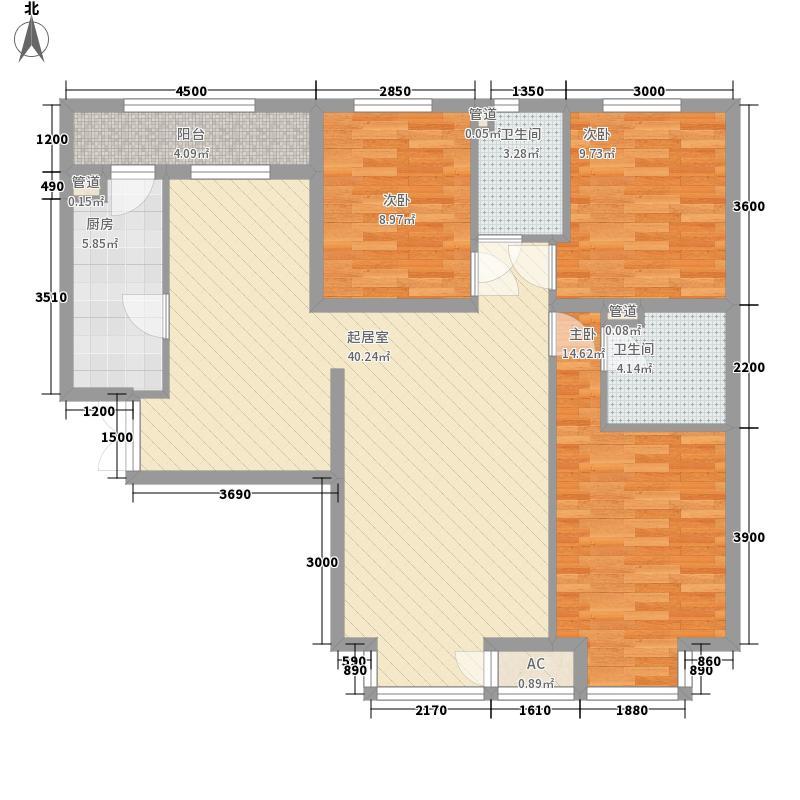 龙城帝景A9号楼标准层C户型