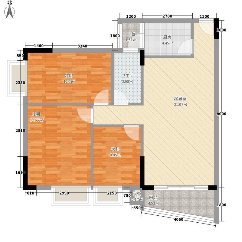 碧琴湾102.30㎡碧琴湾户型图03单位23室2厅2卫1厨户型3室2厅2卫1厨