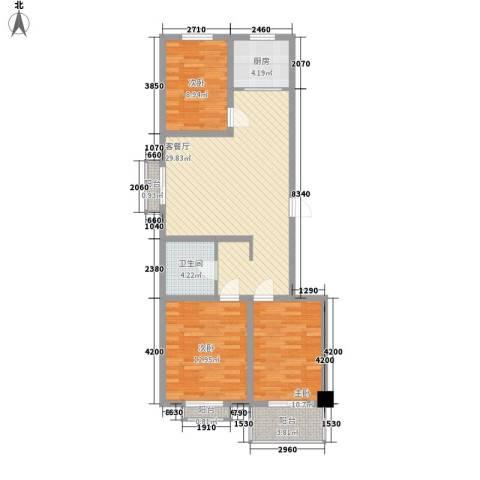 陵川信合苑3室1厅1卫1厨103.00㎡户型图