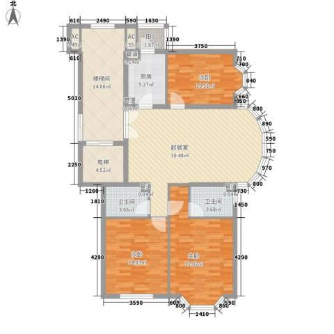 汤泉逸墅别墅3室0厅2卫1厨151.00㎡户型图
