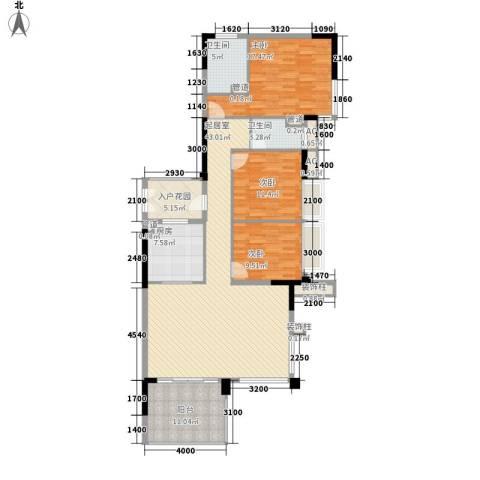 万科虹溪诺雅别墅3室0厅2卫1厨147.00㎡户型图