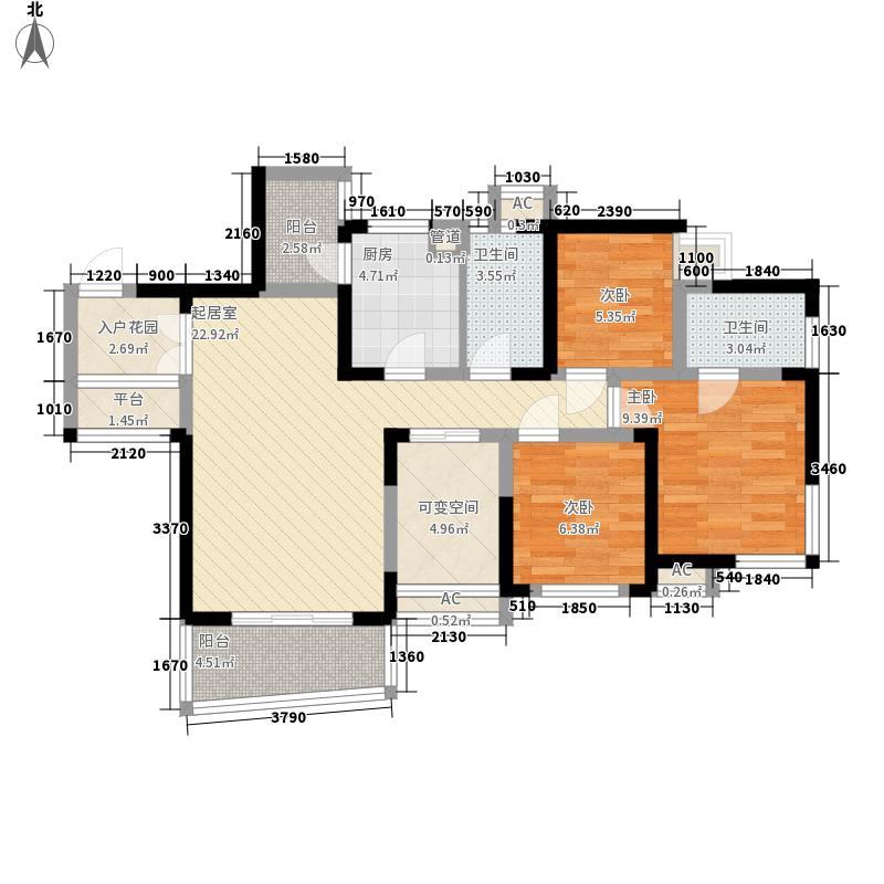 卓锦城五期112.00㎡卓锦城五期户型图户型图3室2厅2卫1厨户型3室2厅2卫1厨