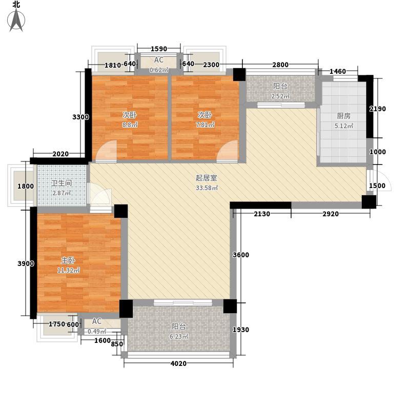 水域天际三期102.00㎡水域天际三期户型图B2-1户型3室2厅1卫1厨户型3室2厅1卫1厨