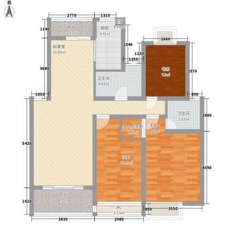 翠微新城3室0厅2卫1厨130.00㎡户型图